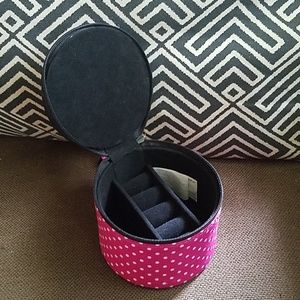 Celebrate It Polka Dot Travel Jewelry Case